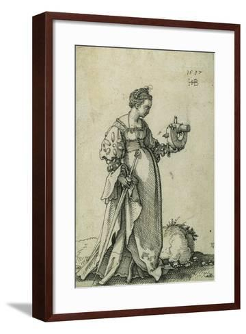 St. Catherine of Alexandria, 1537-Hans Sebald Beham-Framed Art Print