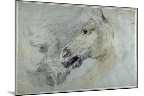 Two Studies of a Horse's Head-Jan Boeckhorst-Mounted Giclee Print