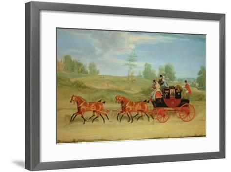 The Manchester and London Royal Mail Coach-James Pollard-Framed Art Print