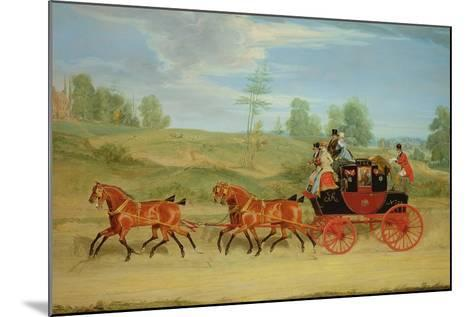 The Manchester and London Royal Mail Coach-James Pollard-Mounted Giclee Print