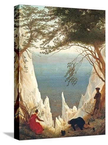 Chalk Cliffs on Rugen, C.1818-Caspar David Friedrich-Stretched Canvas Print