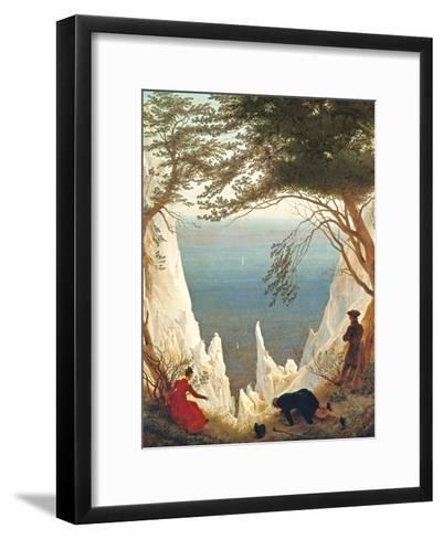 Chalk Cliffs on Rugen, C.1818-Caspar David Friedrich-Framed Art Print