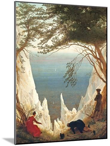 Chalk Cliffs on Rugen, C.1818-Caspar David Friedrich-Mounted Giclee Print