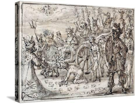 Triumphal Entry of the Indian Bacchus into Thebes-Crispin I De Passe-Stretched Canvas Print