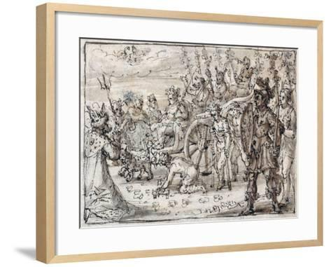 Triumphal Entry of the Indian Bacchus into Thebes-Crispin I De Passe-Framed Art Print