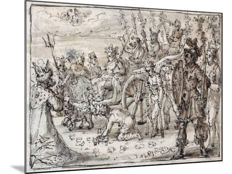 Triumphal Entry of the Indian Bacchus into Thebes-Crispin I De Passe-Mounted Giclee Print