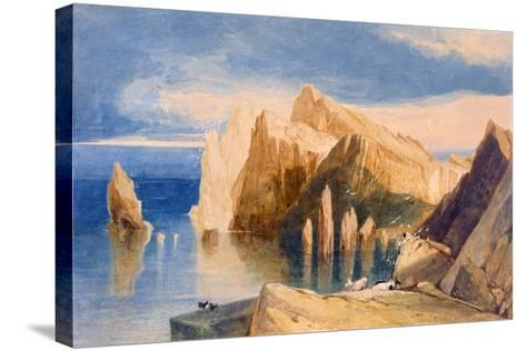 Cliffs on the North East Side of Point Lorenzo, Madeira-John Sell Cotman-Stretched Canvas Print