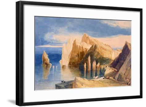 Cliffs on the North East Side of Point Lorenzo, Madeira-John Sell Cotman-Framed Art Print