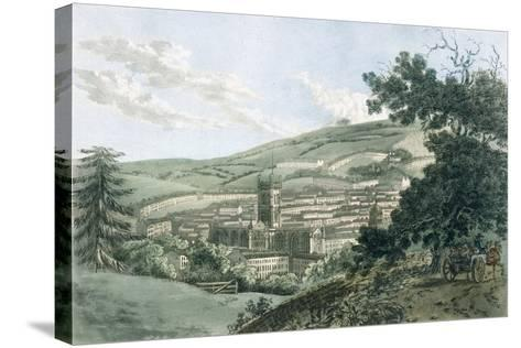Bath, from the Private Road Leading to Prior Park, from 'A Picturesque Guide to Bath, Bristol…- J. Hassell and J.C. Ibbetson-Stretched Canvas Print
