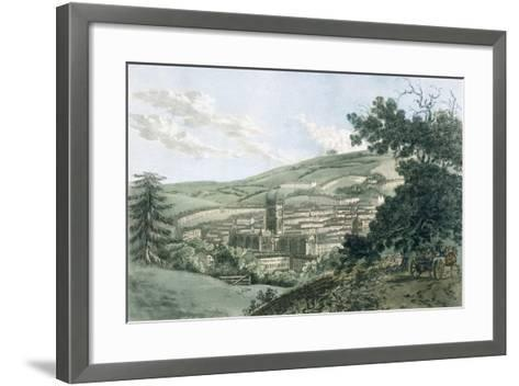 Bath, from the Private Road Leading to Prior Park, from 'A Picturesque Guide to Bath, Bristol…- J. Hassell and J.C. Ibbetson-Framed Art Print