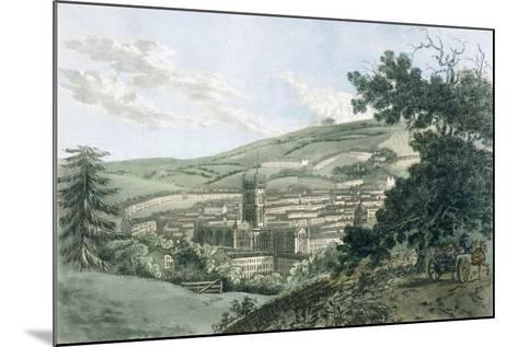 Bath, from the Private Road Leading to Prior Park, from 'A Picturesque Guide to Bath, Bristol…- J. Hassell and J.C. Ibbetson-Mounted Giclee Print