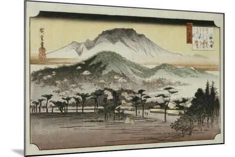 Evening Bell at Mii Temple, from the Series 'Eight Views of Lake Biewa'-Ando Hiroshige-Mounted Giclee Print