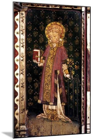 St Lawrence, Detail of the Rood Screen, St Helen's Church, Ranworth, Norfolk, Uk--Mounted Giclee Print