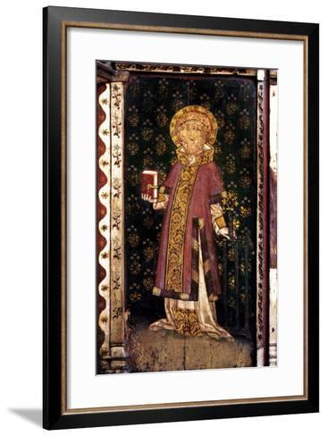 St Lawrence, Detail of the Rood Screen, St Helen's Church, Ranworth, Norfolk, Uk--Framed Art Print