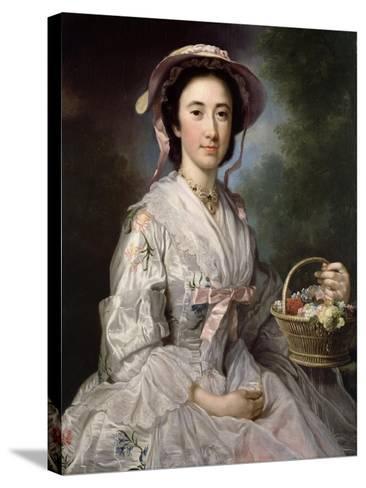 Lucy Ebberton, C.1745-50-George Knapton-Stretched Canvas Print