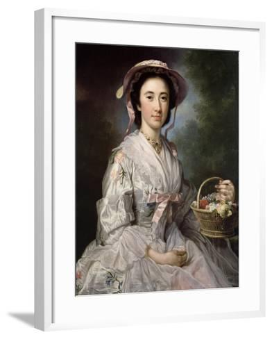 Lucy Ebberton, C.1745-50-George Knapton-Framed Art Print