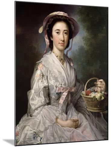 Lucy Ebberton, C.1745-50-George Knapton-Mounted Giclee Print