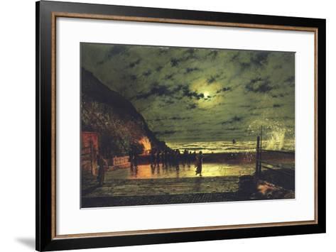 The Harbour Flare, 1879-John Atkinson Grimshaw-Framed Art Print