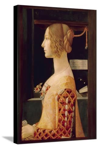 Portrait of Giovanna Tornabuoni, C.1899-Domenico Ghirlandaio-Stretched Canvas Print