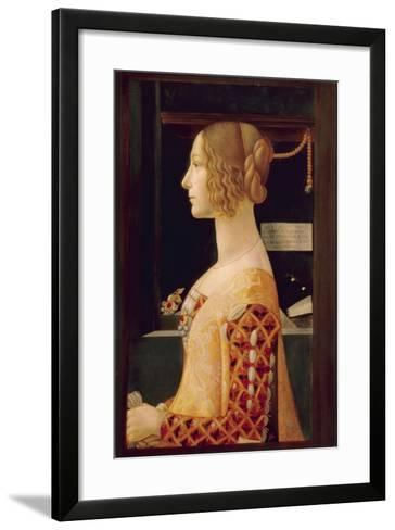 Portrait of Giovanna Tornabuoni, C.1899-Domenico Ghirlandaio-Framed Art Print