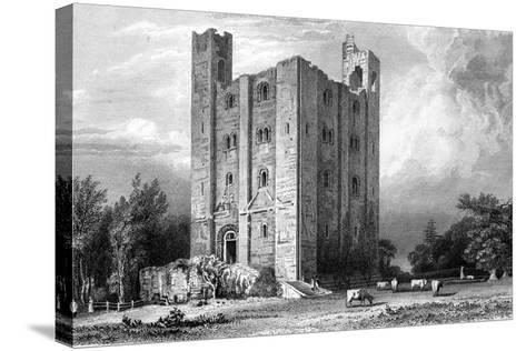 Hedingham Castle, Essex, Engraved by John Carr Armytage, 1832-William Henry Bartlett-Stretched Canvas Print
