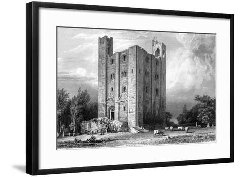 Hedingham Castle, Essex, Engraved by John Carr Armytage, 1832-William Henry Bartlett-Framed Art Print