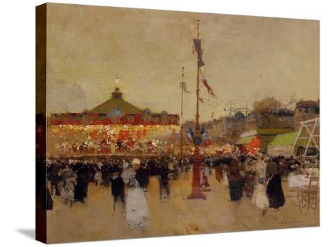 At the Fair-Luigi Loir-Stretched Canvas Print