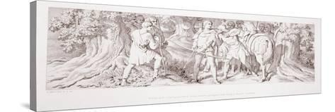 William, in His Hunting Ground at Rouen, Receives Intelligence from Tostig of Harold's…-Daniel Maclise-Stretched Canvas Print