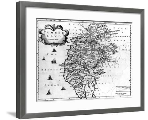 Map of Cumberland, C.1695-Robert Morden-Framed Art Print