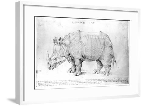 Rhinoceros, 1515-Albrecht D?rer-Framed Art Print
