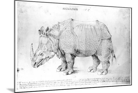 Rhinoceros, 1515-Albrecht D?rer-Mounted Giclee Print