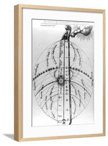 Construction of the Cosmos, from Robert Fludd's 'Utriusque Cosmi Historia', 1619--Framed Art Print