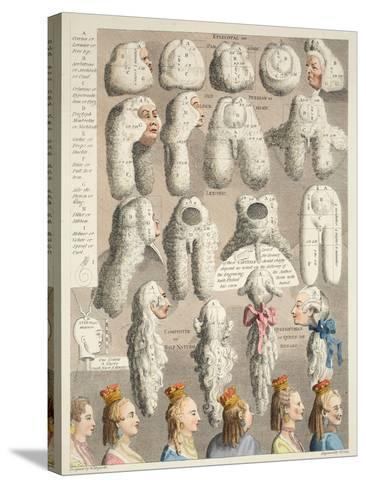 The Five Orders of Perriwigs, Illustration from 'Hogarth Restored: the Whole Works of the…-William Hogarth-Stretched Canvas Print