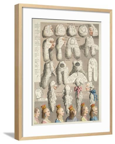 The Five Orders of Perriwigs, Illustration from 'Hogarth Restored: the Whole Works of the…-William Hogarth-Framed Art Print