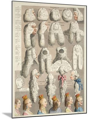 The Five Orders of Perriwigs, Illustration from 'Hogarth Restored: the Whole Works of the…-William Hogarth-Mounted Giclee Print