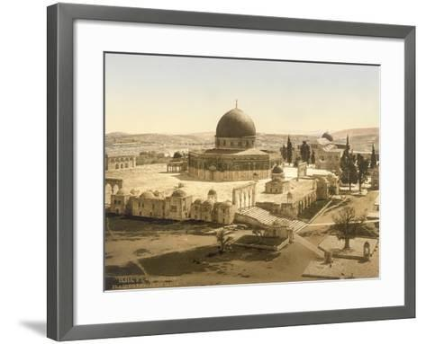 View of the Temple Mount with the Dome of the Rock and the El Aqsa Mosque, Jerusalem, C.1880-1900--Framed Art Print