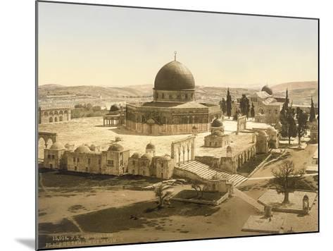 View of the Temple Mount with the Dome of the Rock and the El Aqsa Mosque, Jerusalem, C.1880-1900--Mounted Photographic Print