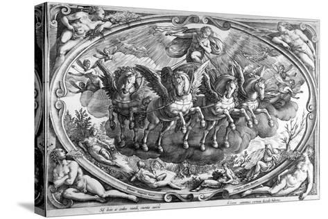 The Four Seasons, Engraved by Philip Galle, C.1580-Jan van der Straet-Stretched Canvas Print