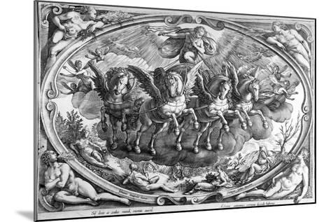 The Four Seasons, Engraved by Philip Galle, C.1580-Jan van der Straet-Mounted Giclee Print