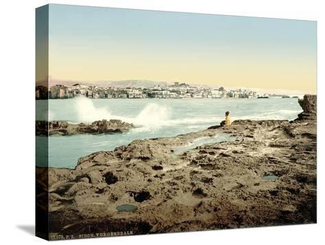 View of Sidon, C.1880-1900--Stretched Canvas Print