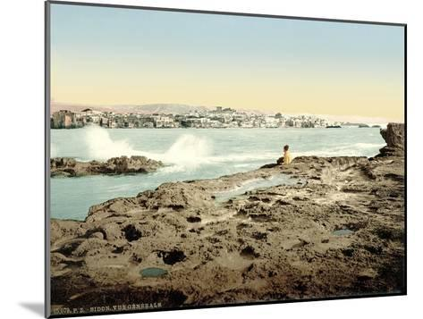 View of Sidon, C.1880-1900--Mounted Photographic Print