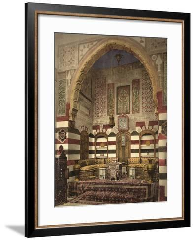 Interior of a Reception Room in a Fine House, Damascus, C.1880-1900--Framed Art Print