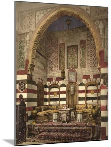 Interior of a Reception Room in a Fine House, Damascus, C.1880-1900--Mounted Photographic Print