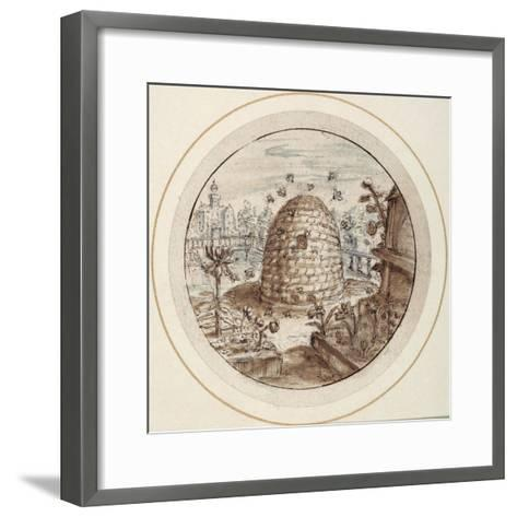 Beehive, Early 17th Century-Crispin I De Passe-Framed Art Print