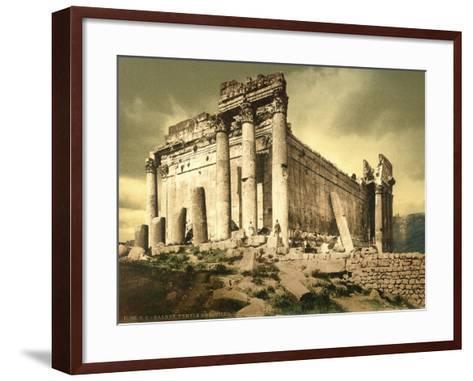 Temple of Bacchus, Baalbek, C.1880-1900--Framed Art Print