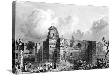 Colchester Castle, Essex, Engraved by John Carr Armytage, 1832-William Henry Bartlett-Stretched Canvas Print