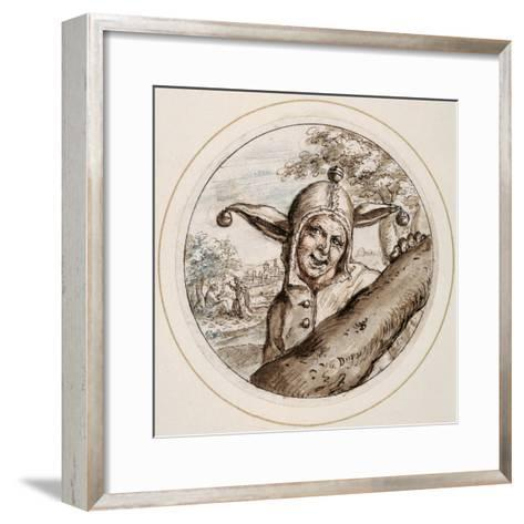 Fool with Cap and Bells, Early 17th Century-Crispin I De Passe-Framed Art Print