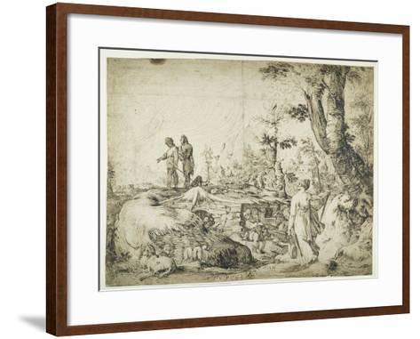 Landscape with Peasants by a Hut, 1593-Hendrik Goltzius-Framed Art Print