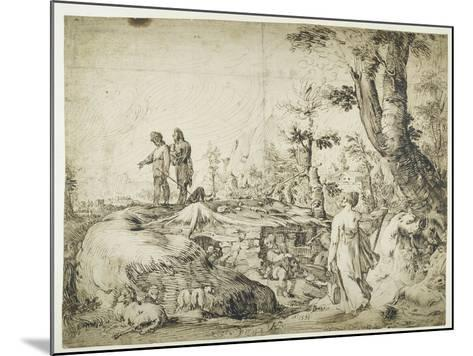 Landscape with Peasants by a Hut, 1593-Hendrik Goltzius-Mounted Giclee Print