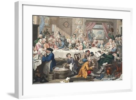 An Election Entertainment, Illustration from 'Hogarth Restored: the Whole Works of the Celebrated…-William Hogarth-Framed Art Print
